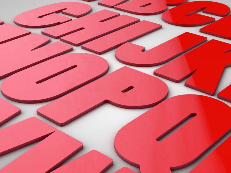 Imprimerie numérique Nîmes Lettrage et logo relief découpe lettre PVC