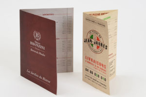 Imprimerie numérique Nîmes Carte Menu et restaurant