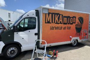 Imprimerie numérique Nîmes Habillage véhicule camion food truck