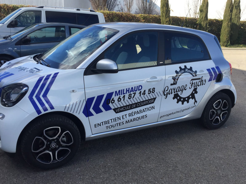 Imprimerie numérique Nîmes semi covering véhicule