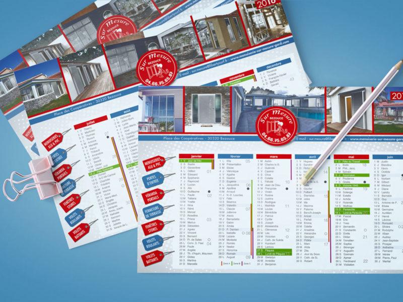 Imprimerie numérique Nîmes Calendrier et vœux