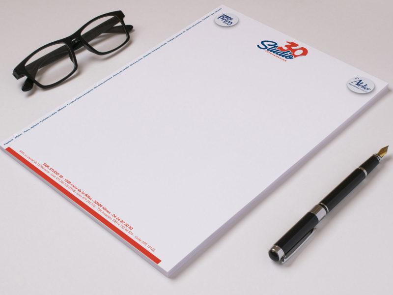 Imprimerie numérique Nîmes Papeterie tête de lettre